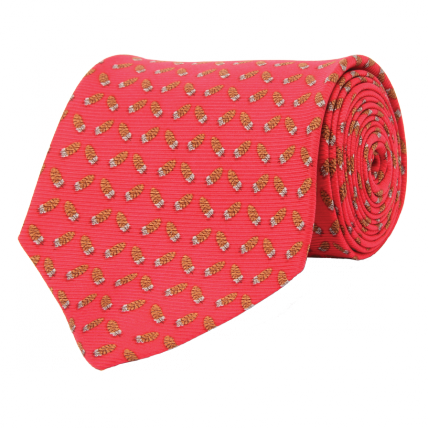 Wm. Lamb & Son - Quail Feather Tie - Red